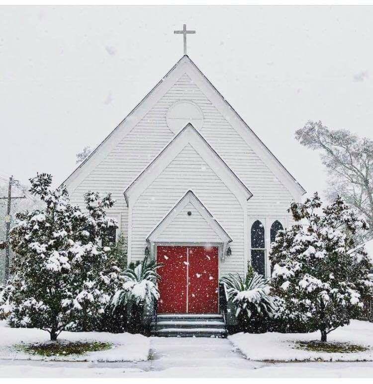 All Saints Snow Scene